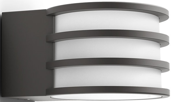 Купить Умные светильники, Смарт-светильник PHILIPS Lucca wall lantern 1x9.5W 230V (17401/93/P0) Anthracite