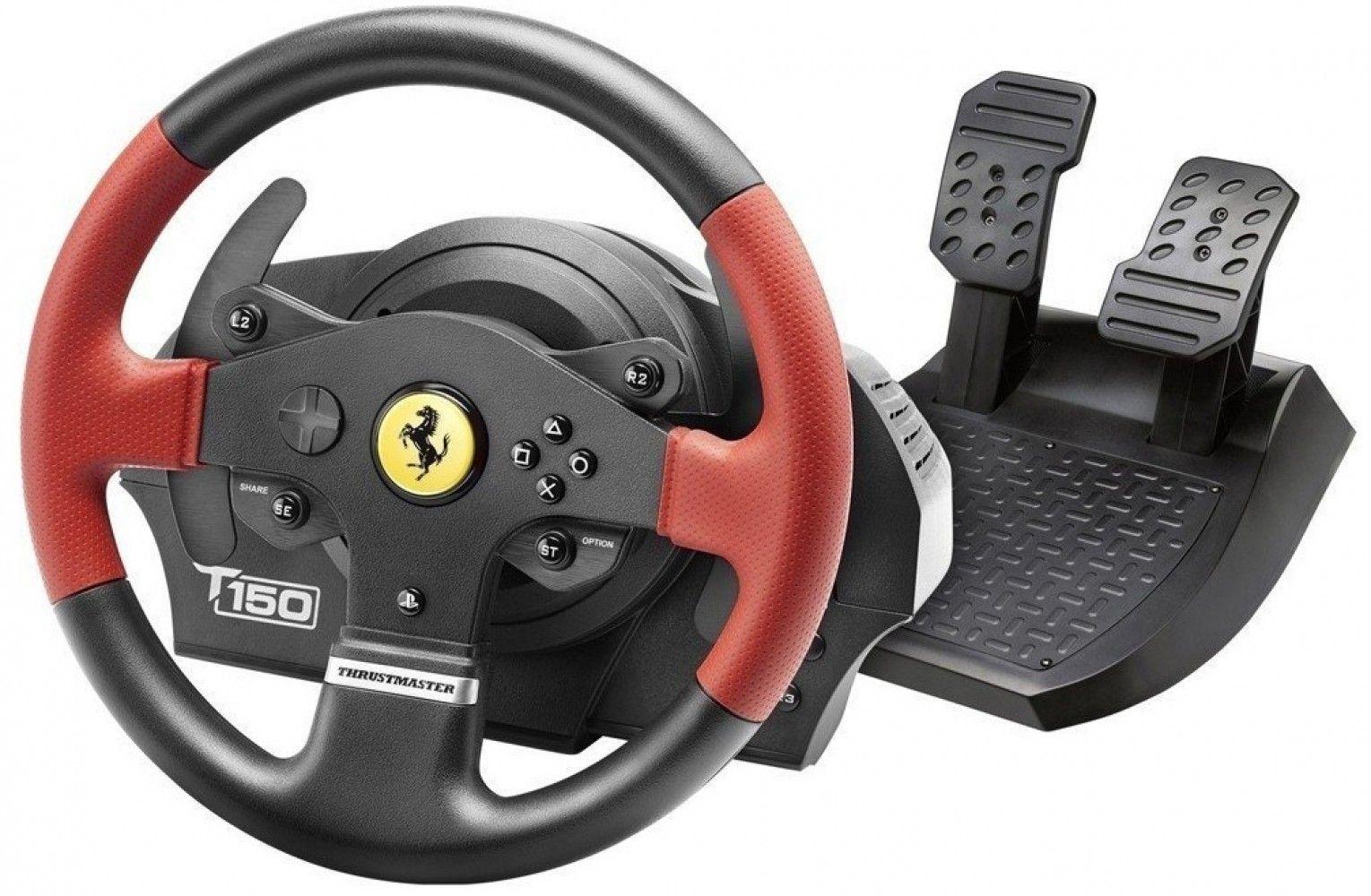 Купить Манипуляторы, джойстики, Проводной руль Thrustmaster T150 Ferrari Wheel PC/PS3/PS4 (4160630) Black