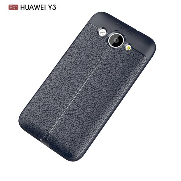 Купить Накладка TPU Leather AF Back Cover Huawei Y3 (2017) Blue, Other