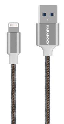 Купить Кабели синхронизации, Кабель USB Marakoko MCB21 lightning 0.2m 2A Grey