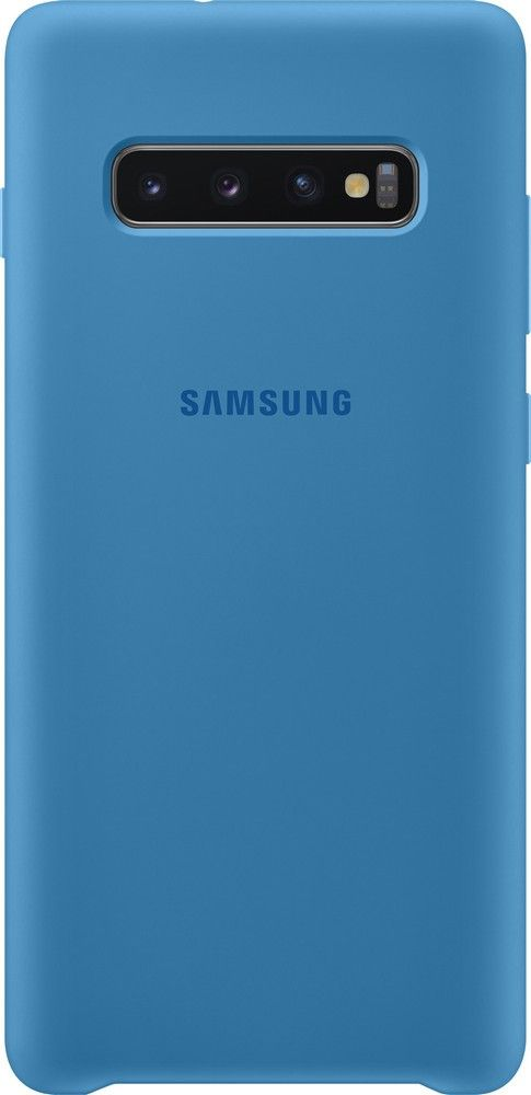 Панель Samsung Silicone Cover для Samsung Galaxy S10 Plus (EF-PG975TLEGRU) Blue от Територія твоєї техніки