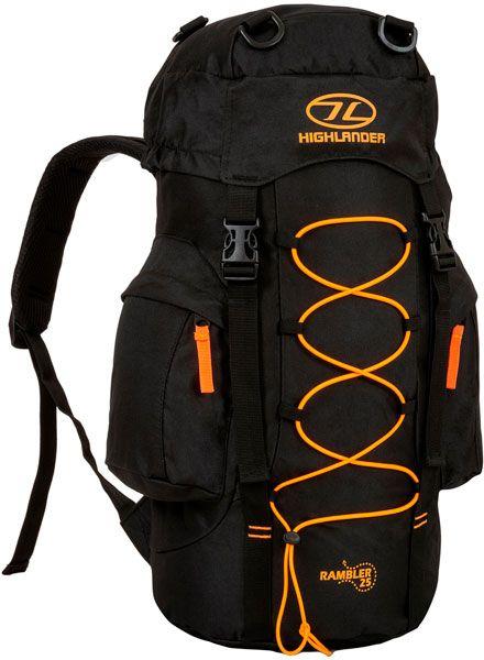 Купить Рюкзаки и гермомешки, Рюкзак туристический Highlander Rambler 25 (927533) Black/Orange