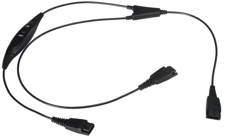 Купить Аксессуары для наушников, Сплиттер для наушников Mairdi MRD-QD008 (151138) Black