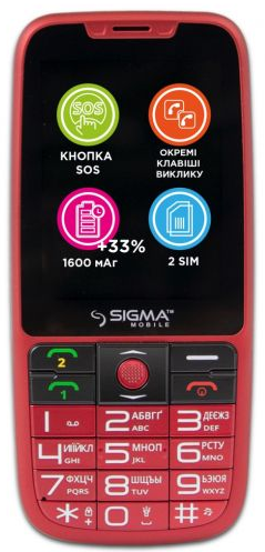 Купить Мобильный телефон Sigma mobile Comfort 50 Elegance3 Red