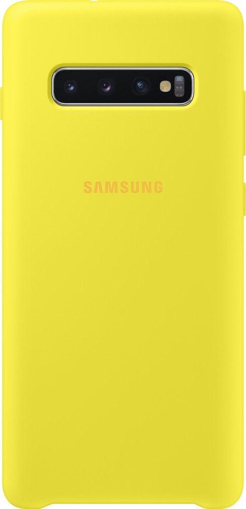 Панель Samsung Silicone Cover для Samsung Galaxy S10 Plus (EF-PG975TYEGRU) Yellow от Територія твоєї техніки