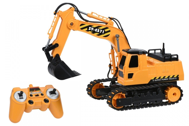 Купить Игрушечные машинки и техника, Машинка на р/у 3 в 1 Same Toy Инженерный экскаватор (E571-003)