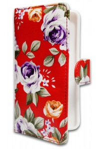 "Чехол-книжка Universal (XL-5"") Red flowers - 26358"