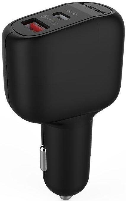 Купить Зарядные устройства, Автомобильное зарядное устройство Marakoko MAC5 2USB (USB+USB-C) QC 3.0 PD3.0 42W Black