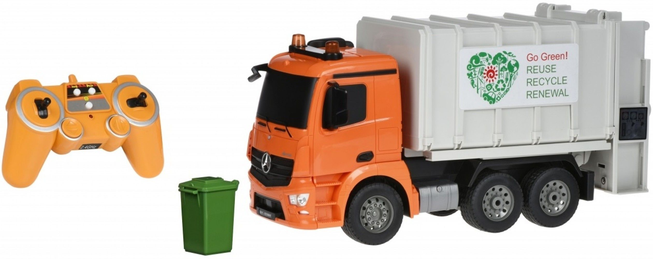 Купить Игрушечные машинки и техника, Машинка на р/у Same Toy Мусоровоз Mercedes-Benz 1:20 (E560-003)