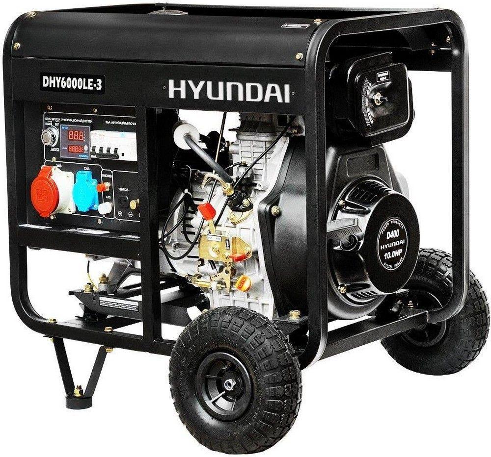 Купить Генератор Hyundai DHY 6000LE-3