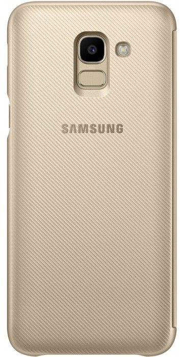 Купить Чехлы для мобильных телефонов, Чехол-книжка Samsung Wallet Cover для Samsung Galaxy J6 2018 (EF-WJ600CFEGRU) Gold