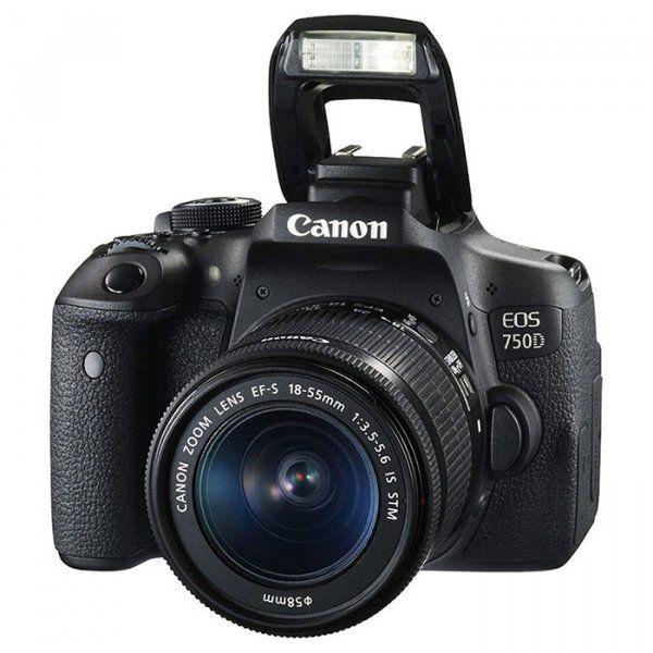 Купить Фотоаппарат Canon EOS 750D 18-55 DC III Kit (0592C112)