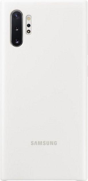 Накладка Samsung Silicone Cover для Samsung Galaxy Note 10 Plus (EF-PN975TWEGRU) White от Територія твоєї техніки