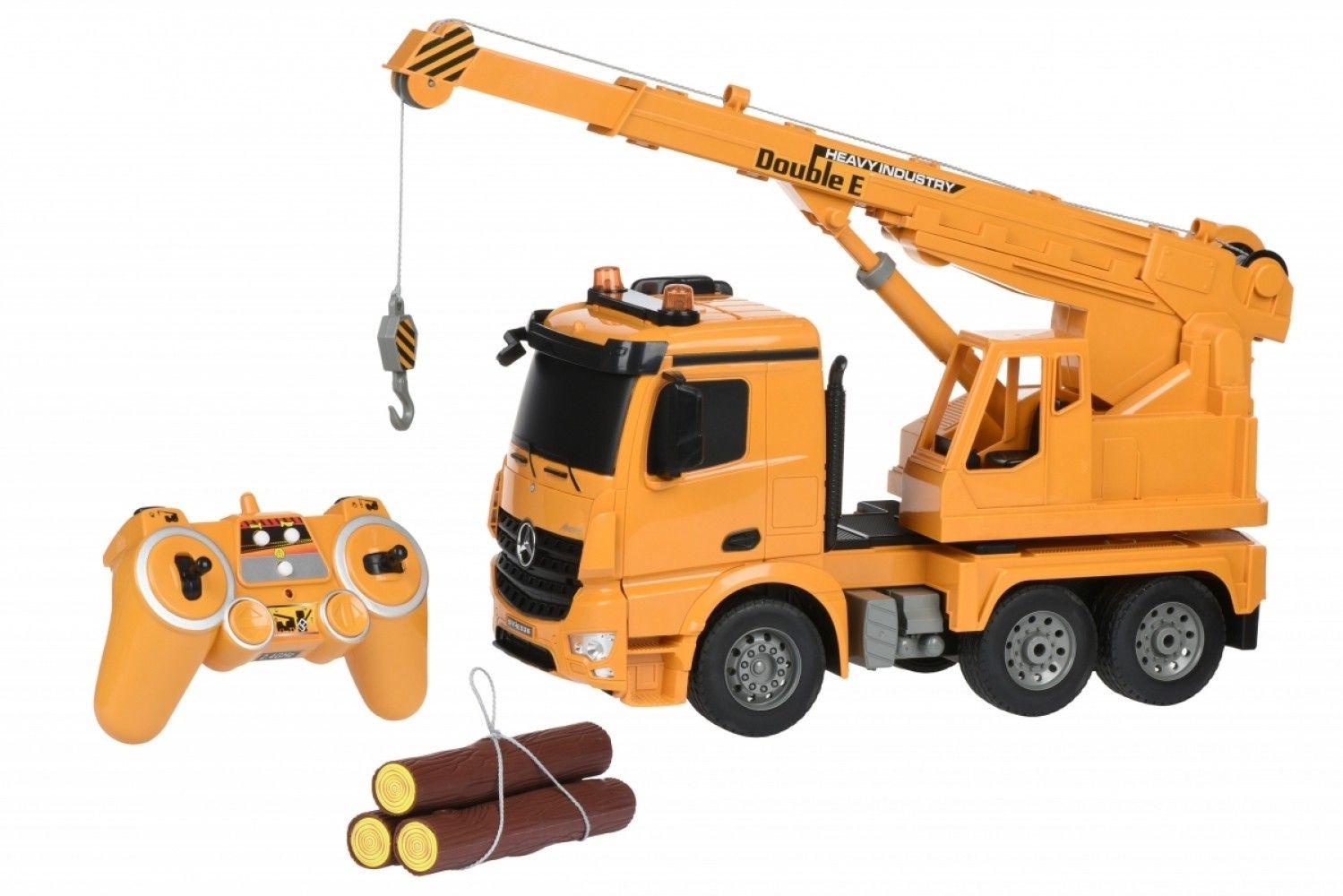 Купить Игрушечные машинки и техника, Машинка на р/у 3 в 1 Same Toy Подъемный кран Mercedes-Benz 1:20 (E526-003)
