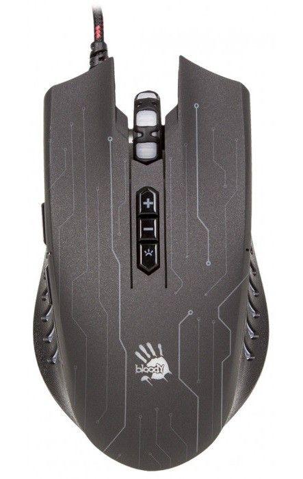 Купить Мыши, Мышь A4Tech Q81 Circuit USB (4711421932103) Black