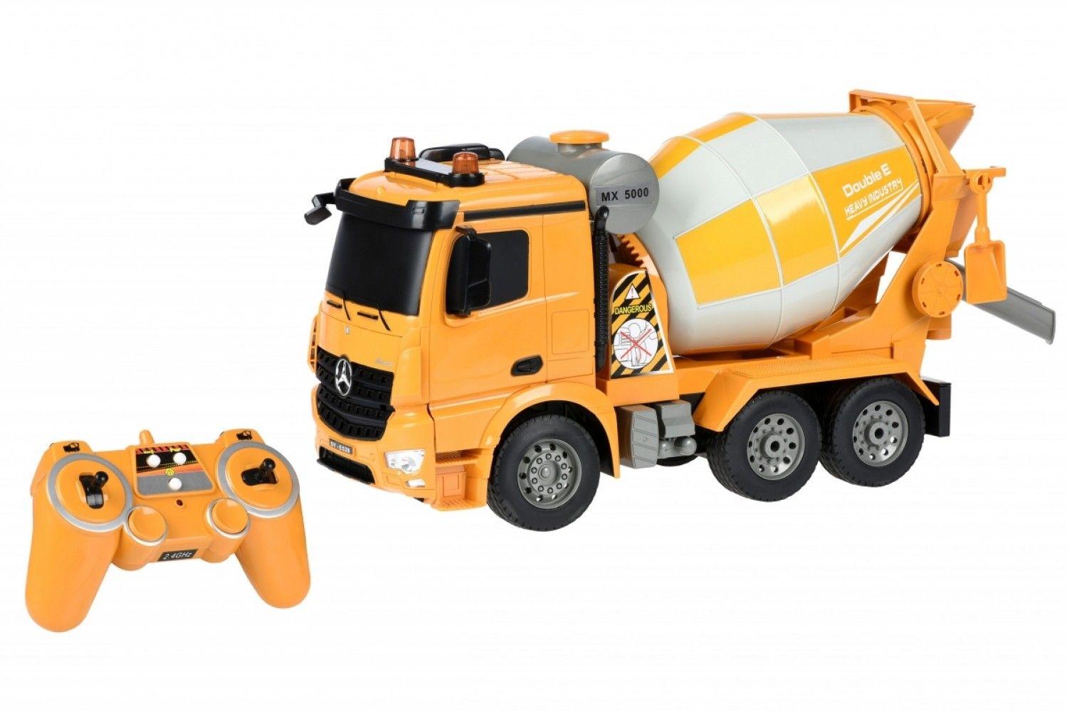Купить Игрушечные машинки и техника, Машинка на р/у 3 в 1 Same Toy Бетономешалка Mercedes-Benz 1:20 (E528-003) Yellow