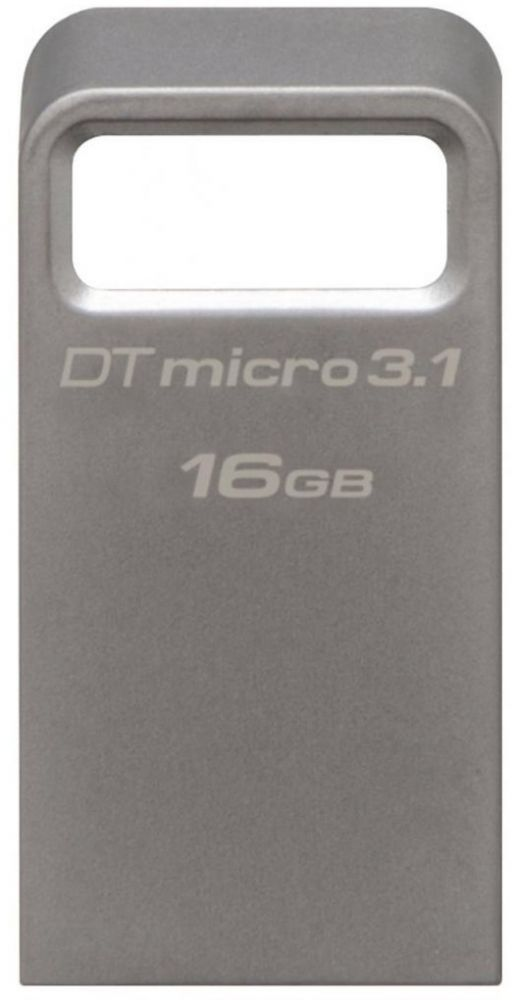 Купить USB флеш накопитель Kingston DT Micro 3.1 16GB USB 3.1 (DTMC3/16GB) Metal Silver