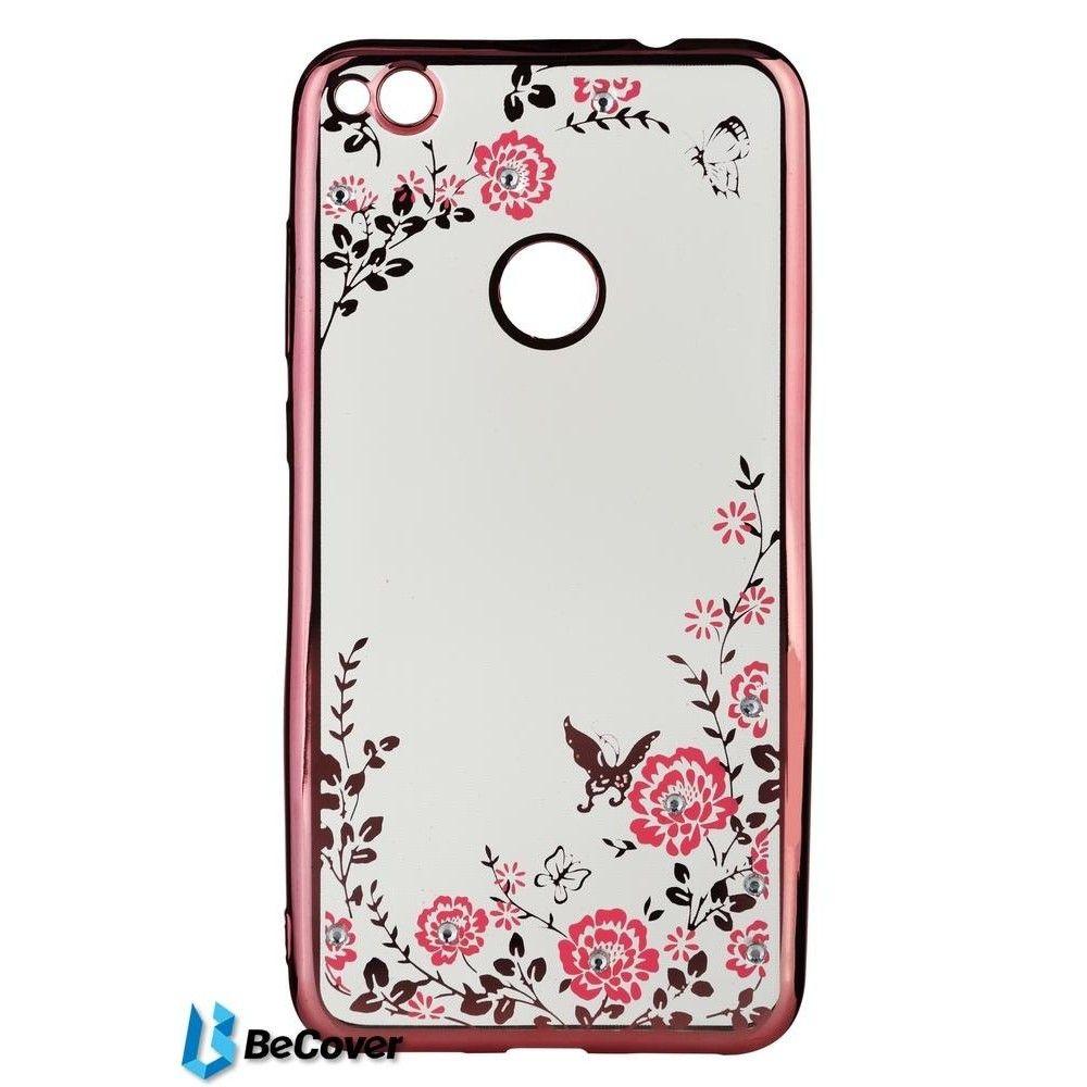 Купить Чехол Becover Flowers Series для Huawei P8 Lite 2017 Pink (BC_701300)