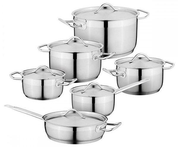 Купить Наборы посуды для приготовления пищи, Набор посуды BergHOFF Essentials Hotel Line из 12 предметов (1112140)