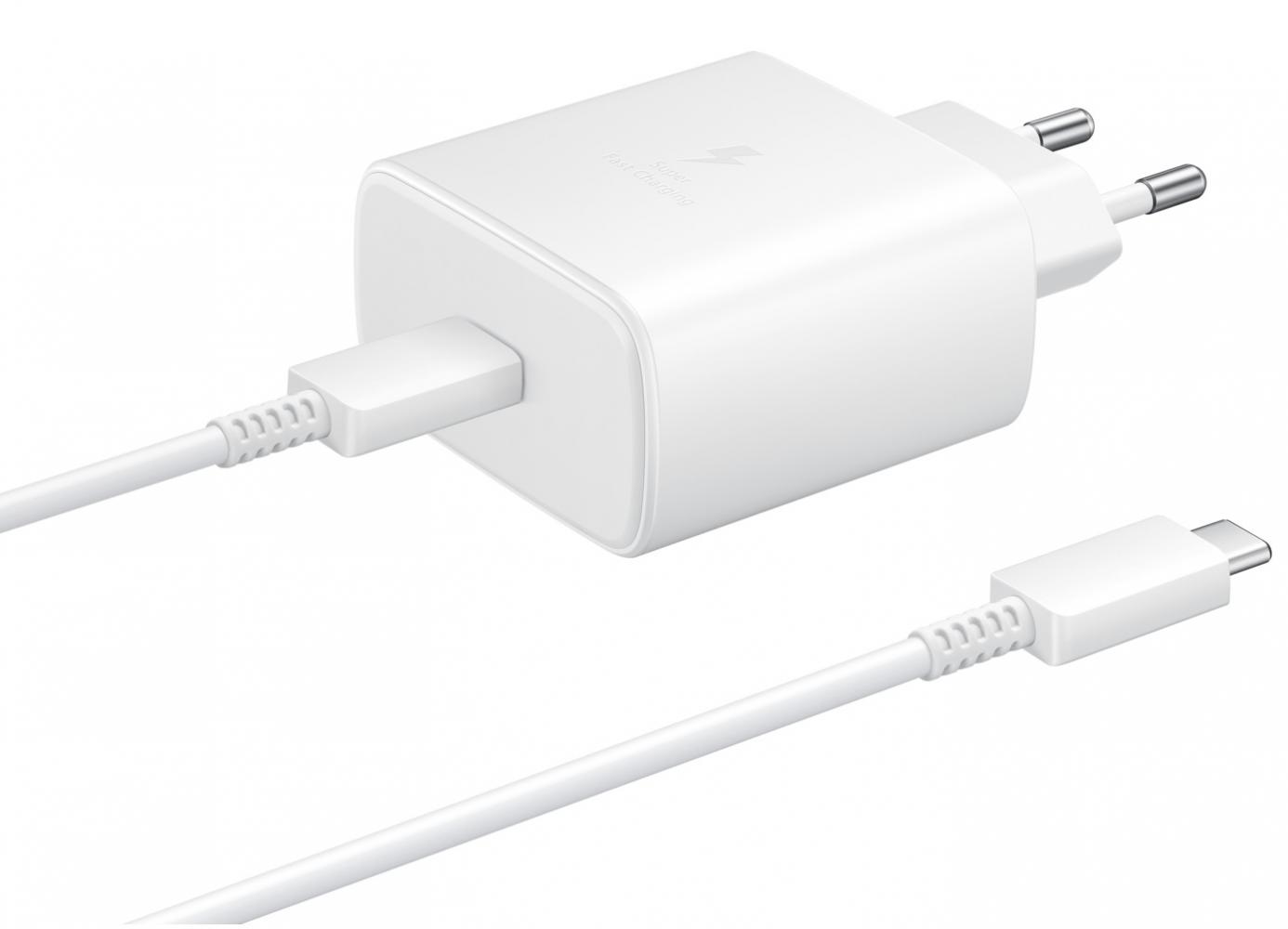 Купить Зарядные устройства, Сетевое зарядное устройство Samsung Fast Charging Type-C 45W (EP-TA845XWEGRU) White