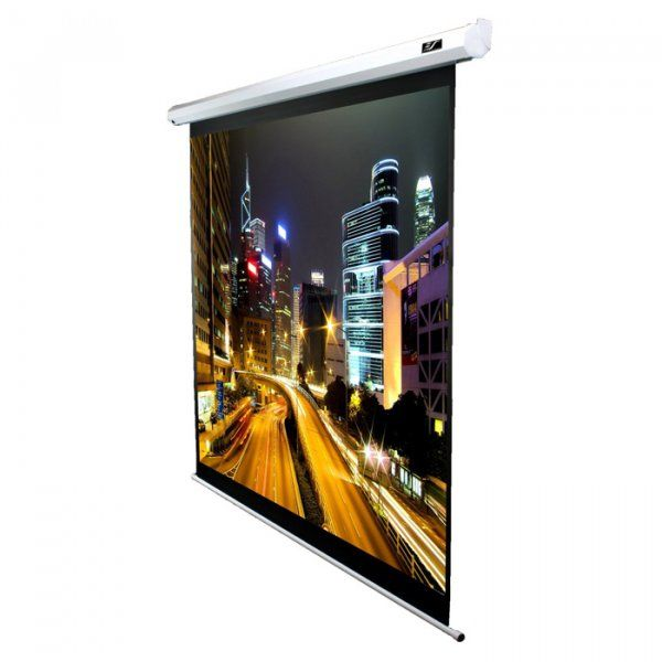 Купить Проекционный моторизированный экран Elite Screens (Electric125XH) White Case