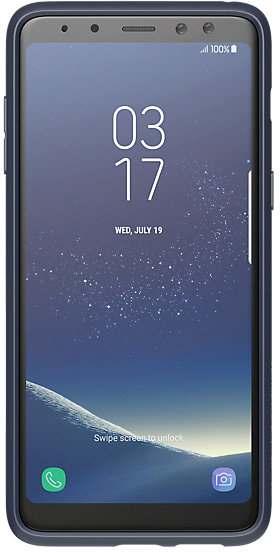 Купить Чехлы для мобильных телефонов, Панель Samsung Silicon cover A8 2018 (GP-A530KDCPBAB) Midnight Blue
