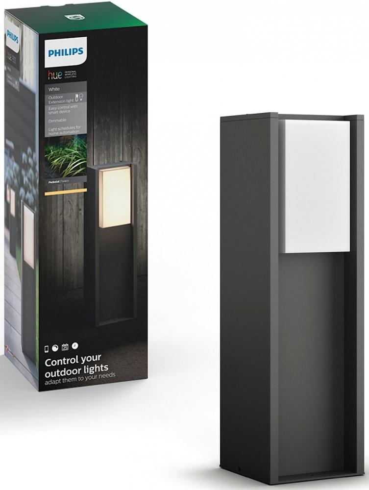 Купить Умные светильники, Смарт-светильник PHILIPS Turaco pedestal 1x9.5W 230V (16473/93/P0) Anthracite
