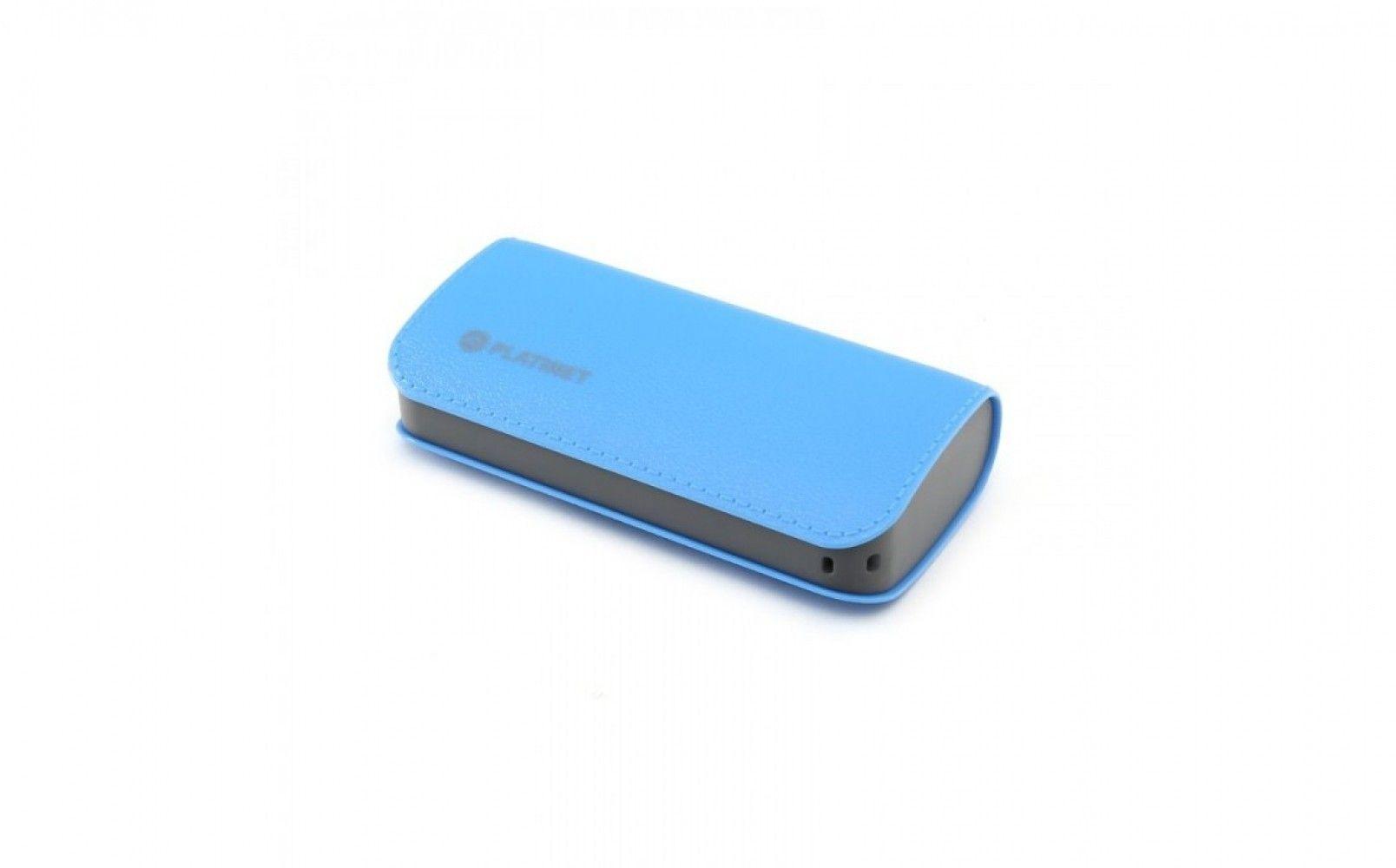 Купить Внешний аккумулятор Platinet Leather 5200mAh Blue