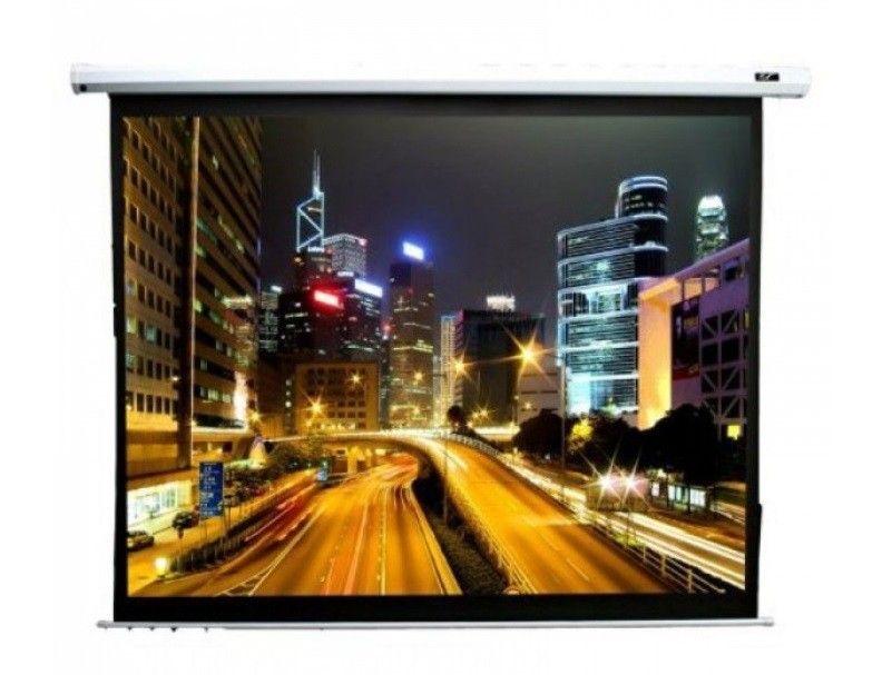 Купить Проекционный моторизированный экран Elite Screens (Electric100V) White Case