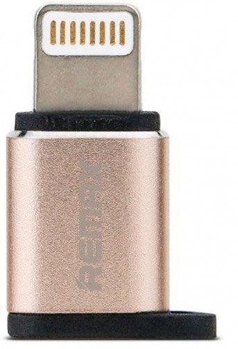 Кабели синхронизации, Адаптер Remax RA-USB2 micro-lightning Gold  - купить со скидкой