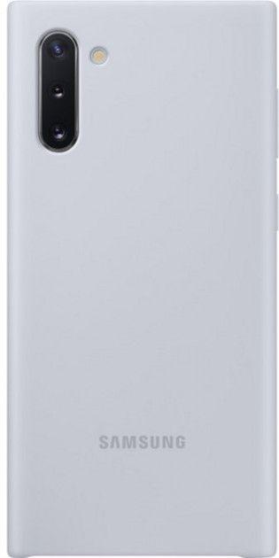 Накладка Samsung Silicone Cover для Samsung Galaxy Note 10 (EF-PN970TSEGRU) Silver от Територія твоєї техніки