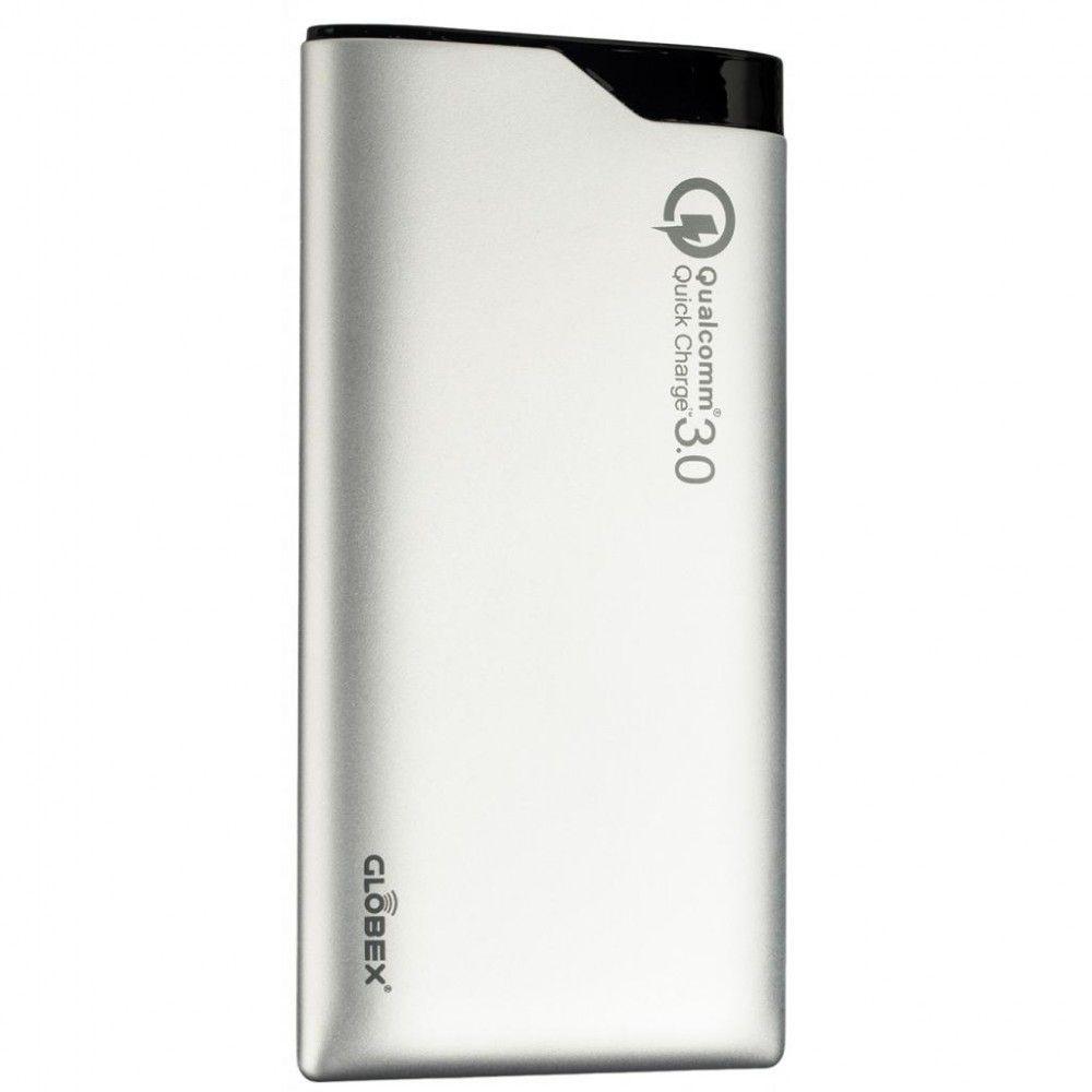 Купить Внешний аккумулятор Globex QC 3.0 10000 mAh Silver (Q100P)