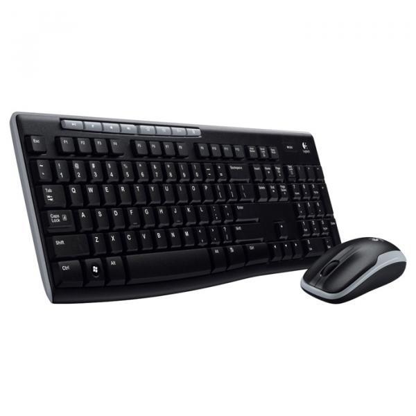 Купить Комплект беспроводной Logitech MK270 RUS (920-004518) Black