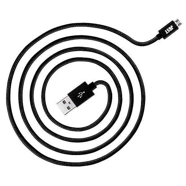 Кабель синхронизации Just Copper Micro USB Cable 1.2 м Black (MCR-CPR12-BLCK)  - 20607