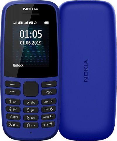 Мобильный телефон Nokia 105 Dual Sim 2019 (16KIGL01A01) Blue от Територія твоєї техніки