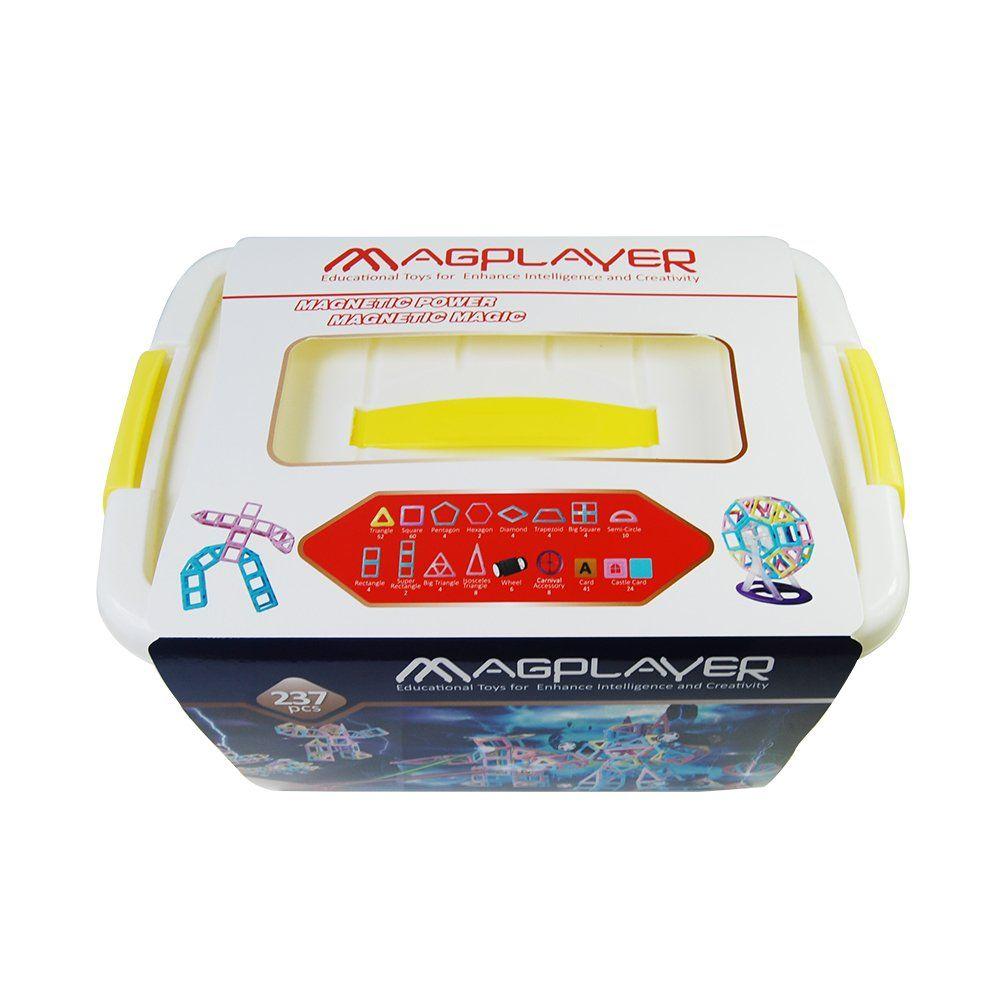 Купить Конструкторы, Магнитный конструктор MagPlayer бокс 237 эл. (MPT2-237)
