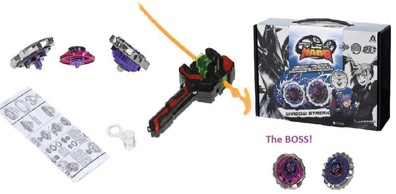 Игровые наборы, Волчок Infinity Nado Auldey Крэк Boss Shadow Streak Босс Адский Призрак (YW624705)  - купить со скидкой