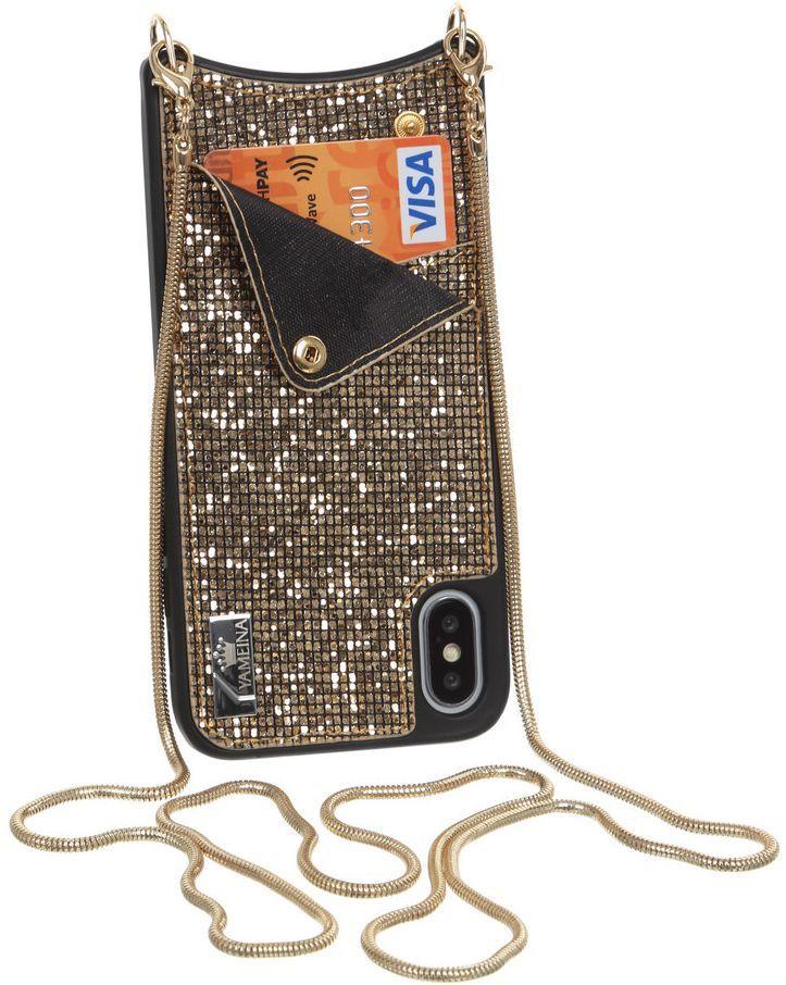 Купить Чехлы для мобильных телефонов, Чехол Glitter Wallet Becover для Apple iPhone X/Xs (703618) Gold