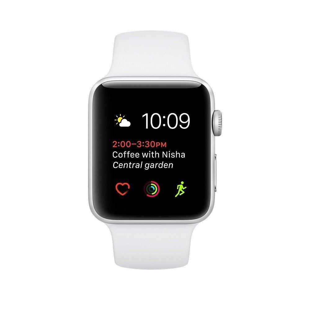 Смарт годинник Apple Watch Series 1 Sport 38mm Silver Aluminium Case with  White Sport Band ... c84c444d32fb7