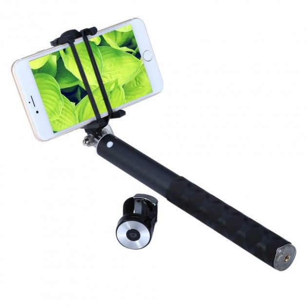 Купить Моноподы для селфи, Монопод Wo New BR0802 Pro Selfie Stick Black, WoNew