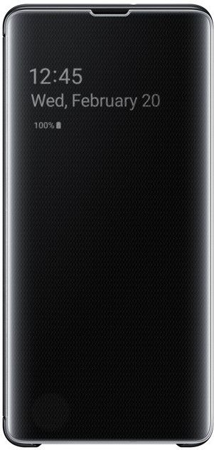 Чехол-книжка Samsung Clear View Cover для Samsung Galaxy S10 Plus (EF-ZG975CBEGRU) Black от Територія твоєї техніки