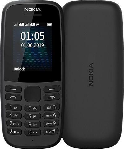 Мобильный телефон Nokia 105 Dual Sim 2019 (16KIGB01A01) Black от Територія твоєї техніки