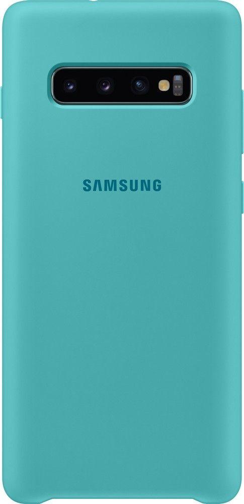 Панель Samsung Silicone Cover для Samsung Galaxy S10 Plus (EF-PG975TGEGRU) Green от Територія твоєї техніки
