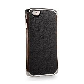 Чехол для iPhone 6/6S Element Case Ronin Ultra Luxe Platinum/Wenge/Black Leather  (EMT-0156) - 27927