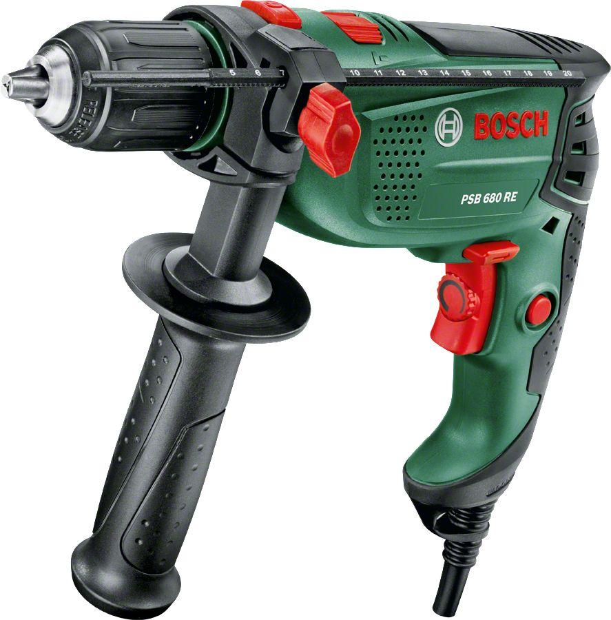 Купить Дрели, Дрель ударная Bosch PSB 680 RE (0603128022)