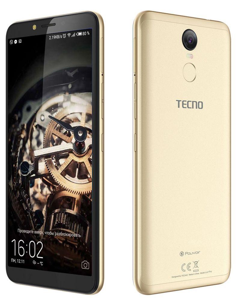 Купить Смартфон Tecno Pouvoir 2 Pro LA7 pro Dualsim (4895180738531) Champagne Gold