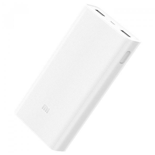 Купить Универсальные мобильные батареи, УМБ Xiaomi Mi Power Bank 2C 20000mAh White (PLM06ZM)