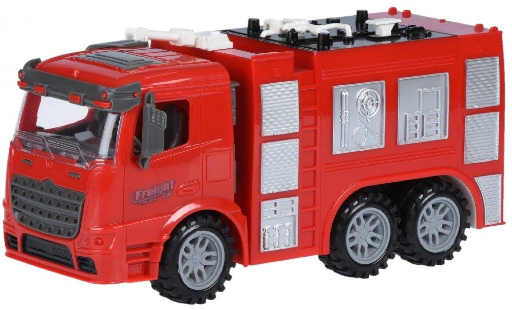 Купить Игрушечные машинки и техника, Машинка Same Toy Truck Пожарная машина со светом и звуком (98-618AUt)