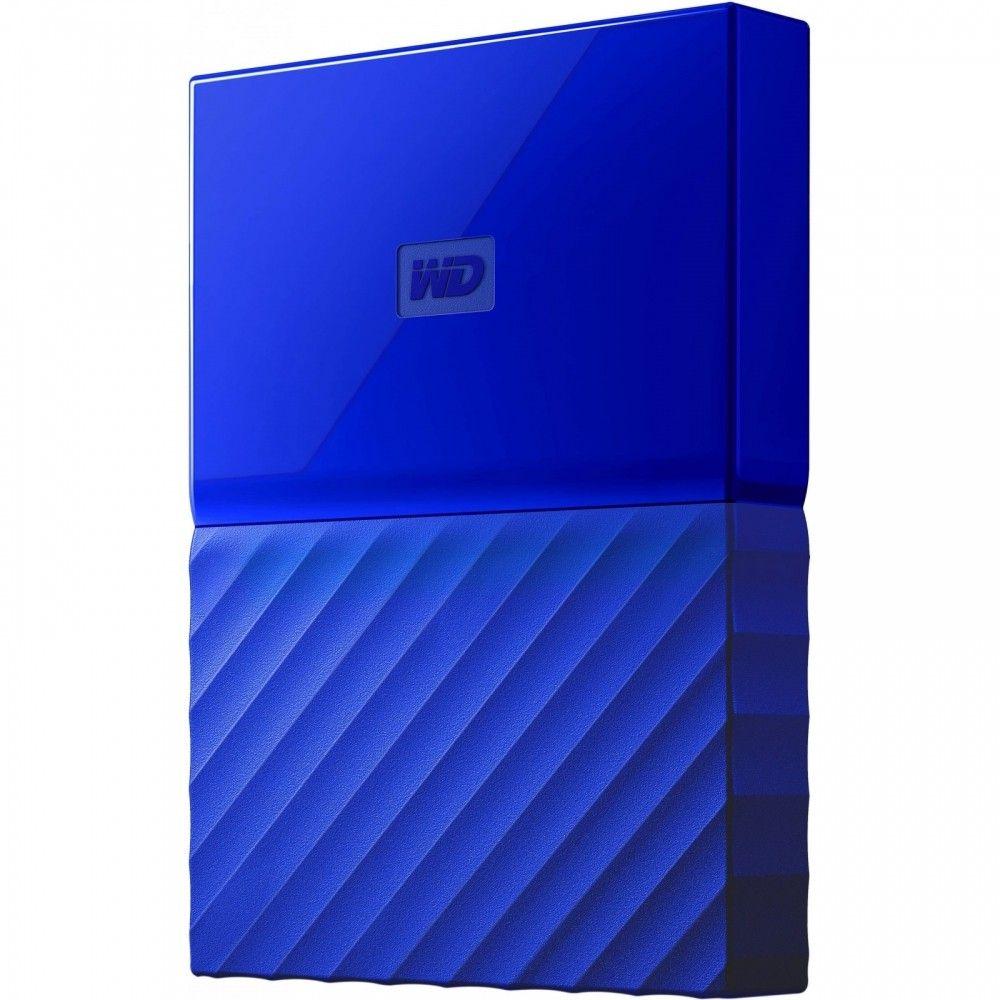 Купить Жесткие диски, Жесткий диск Western Digital My Passport 4TB WDBYFT0040BBL-WESN 2.5 USB 3.0 External Blue