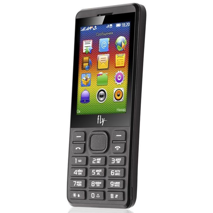 Купить Кнопочные телефоны, Мобильный телефон Fly FF281 Dark Gray